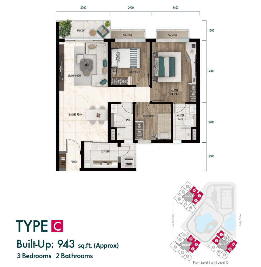 Lake City KL North Floor Plan Type C