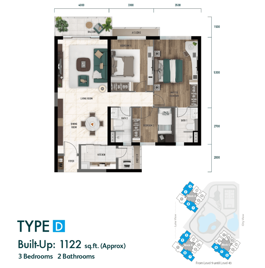 Lake City KL North Floor Plan Type D