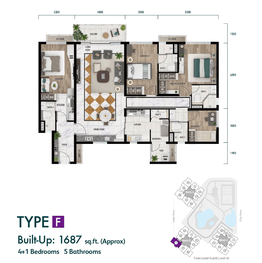 Lake City KL North Floor Plan Type F