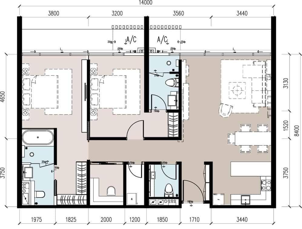Anggun Residences D / D1型