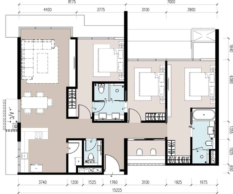 Anggun Residences E / E1型