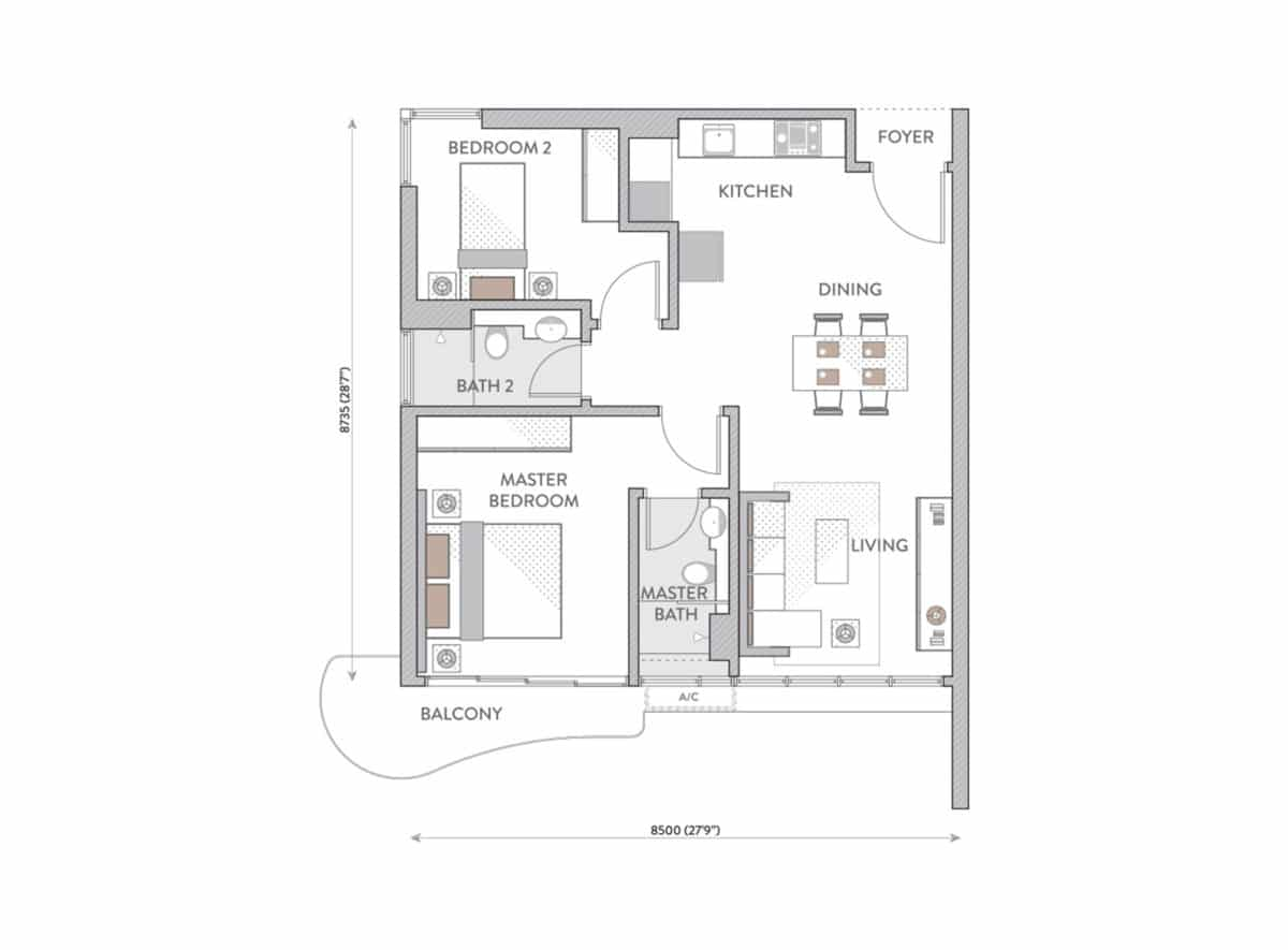 Jenis Pelan Lantai Senada Residences H