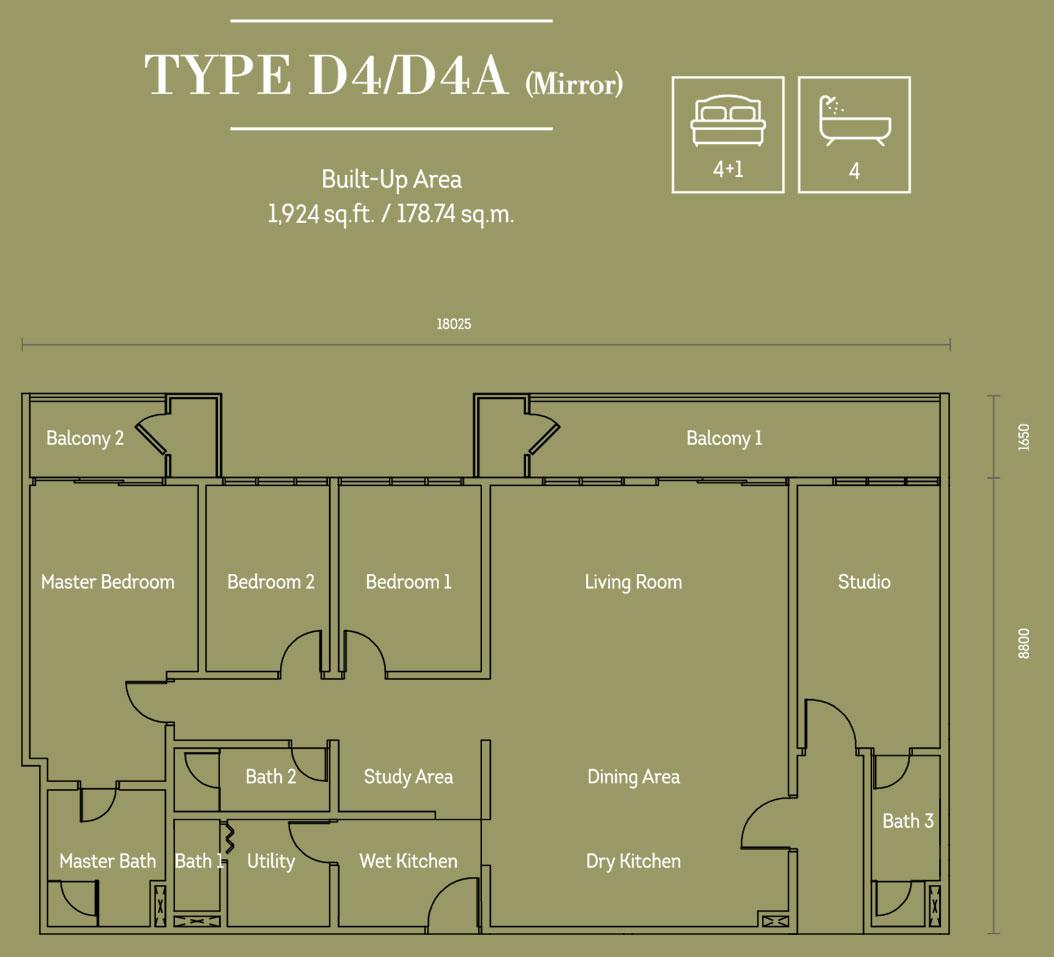 Hampton Damansara平面图D4 D4A