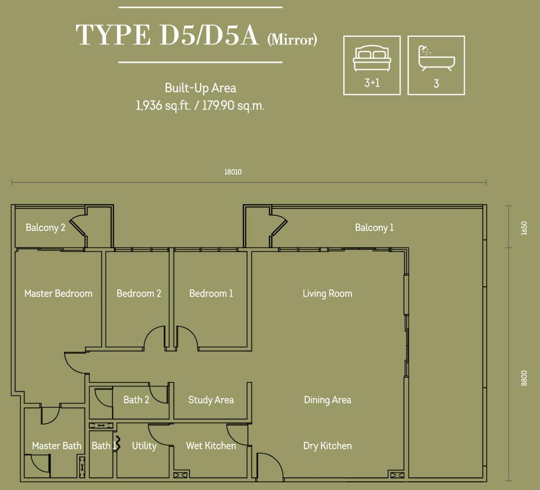 汉普顿白沙罗D5 D5A型平面图