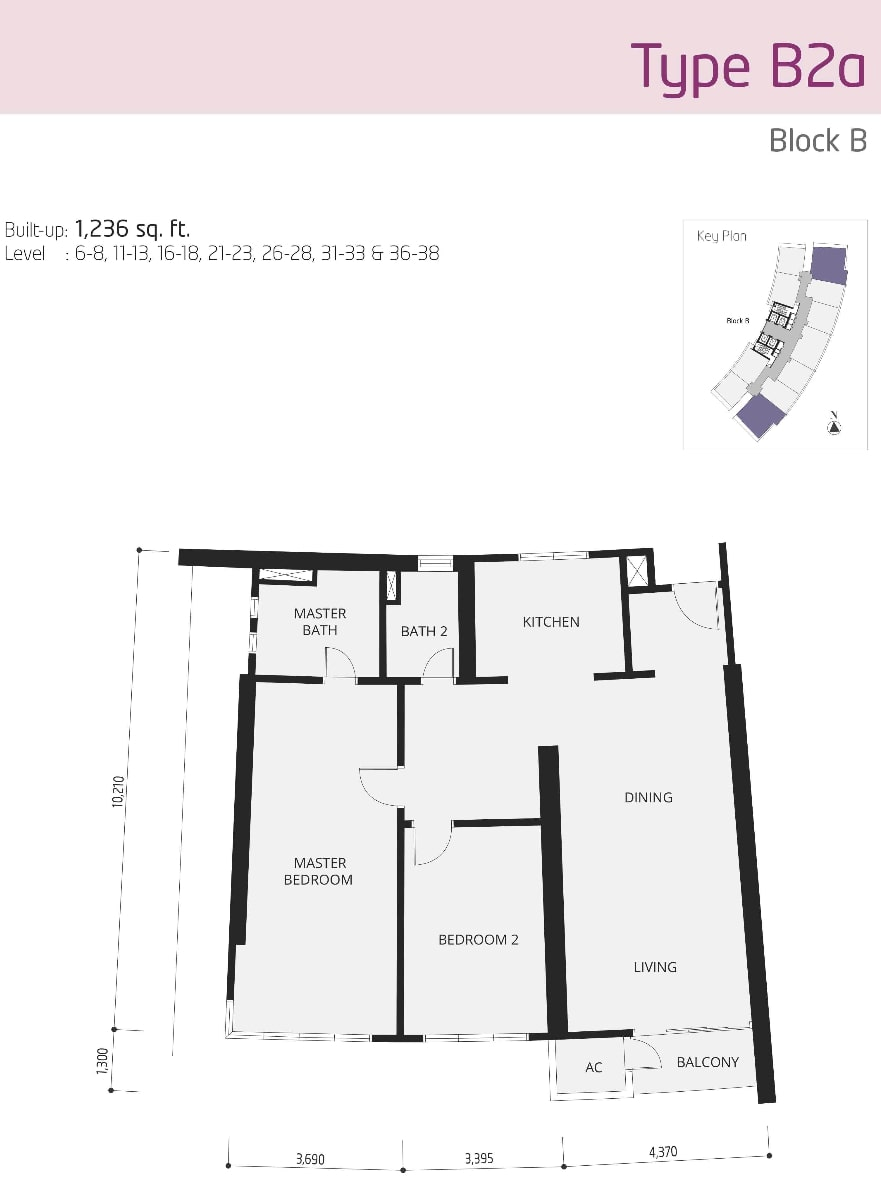 The OOAK Kiara 163 Floor Plan Type B2a