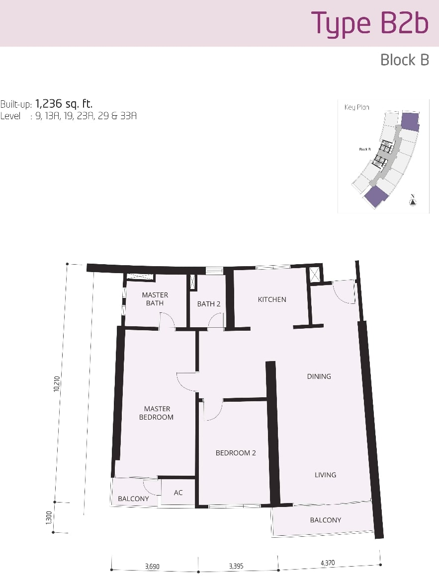 The OOAK Kiara 163 Floor Plan Type B2b