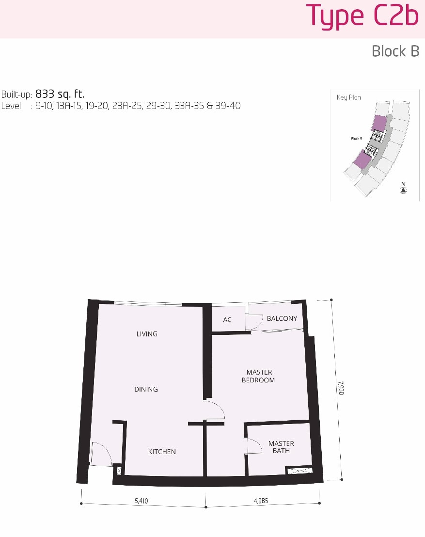 The OOAK Kiara 163 Floor Plan Type C2b