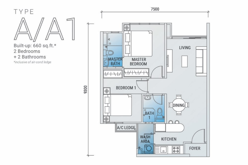 白金竞技场平面图A型:A1