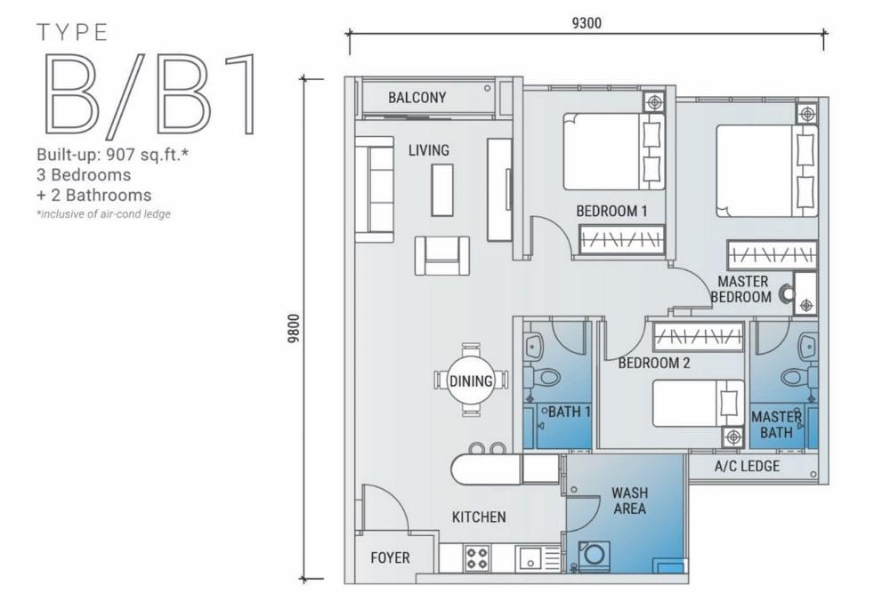 白金竞技场平面图B型:B1