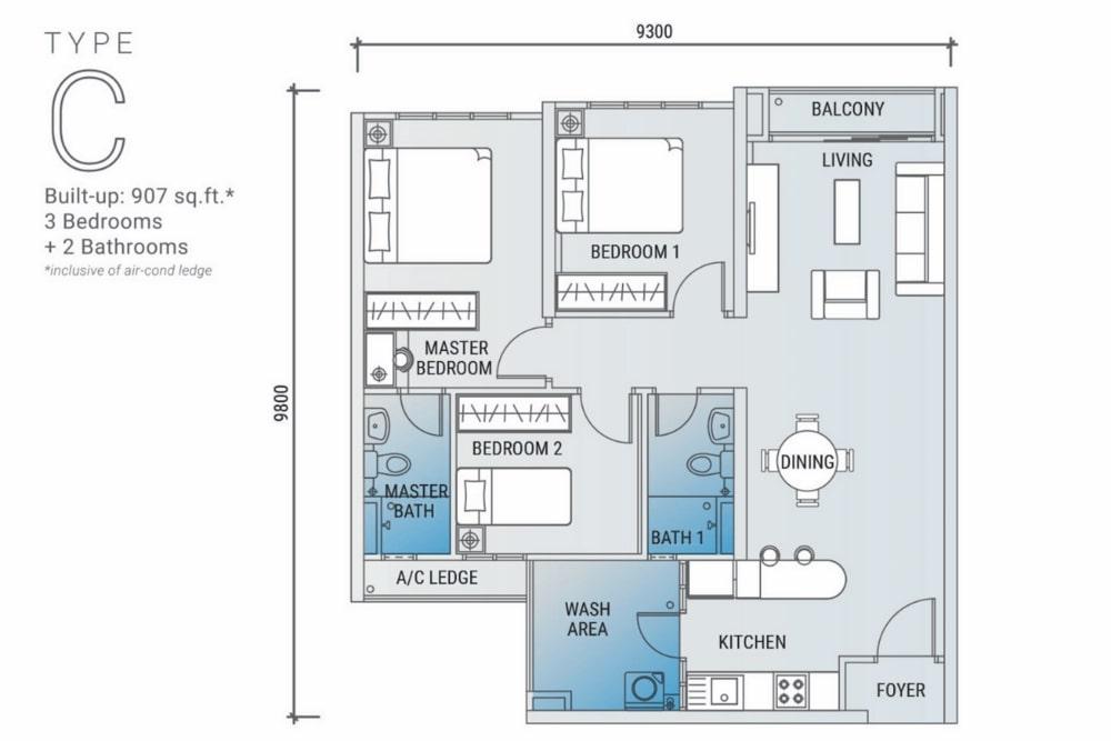 白金竞技场平面图C型