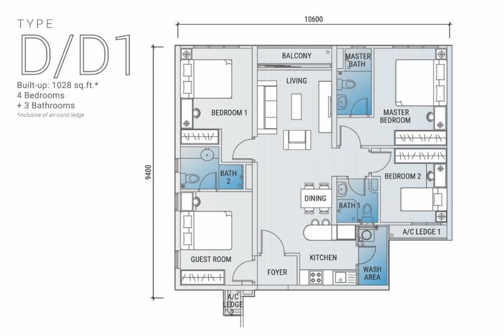 白金竞技场平面图D:D1型