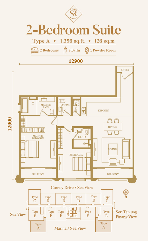 Straits Residence Floor Plan Type A