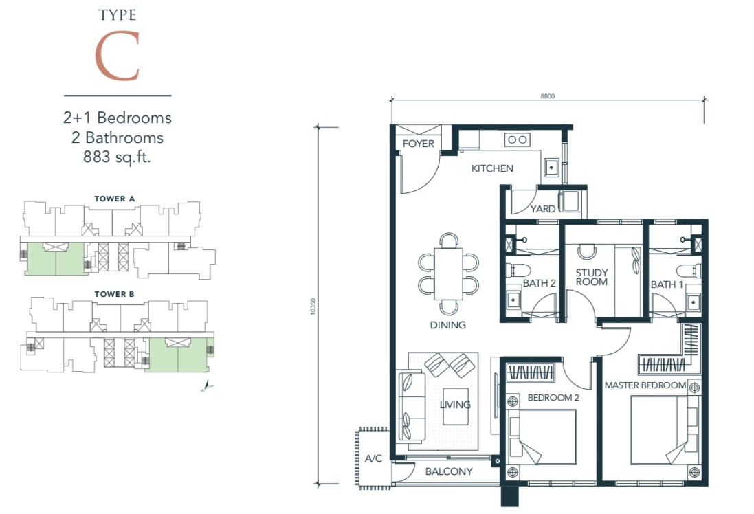Sunway Velocity TWO Floor Plan Type C