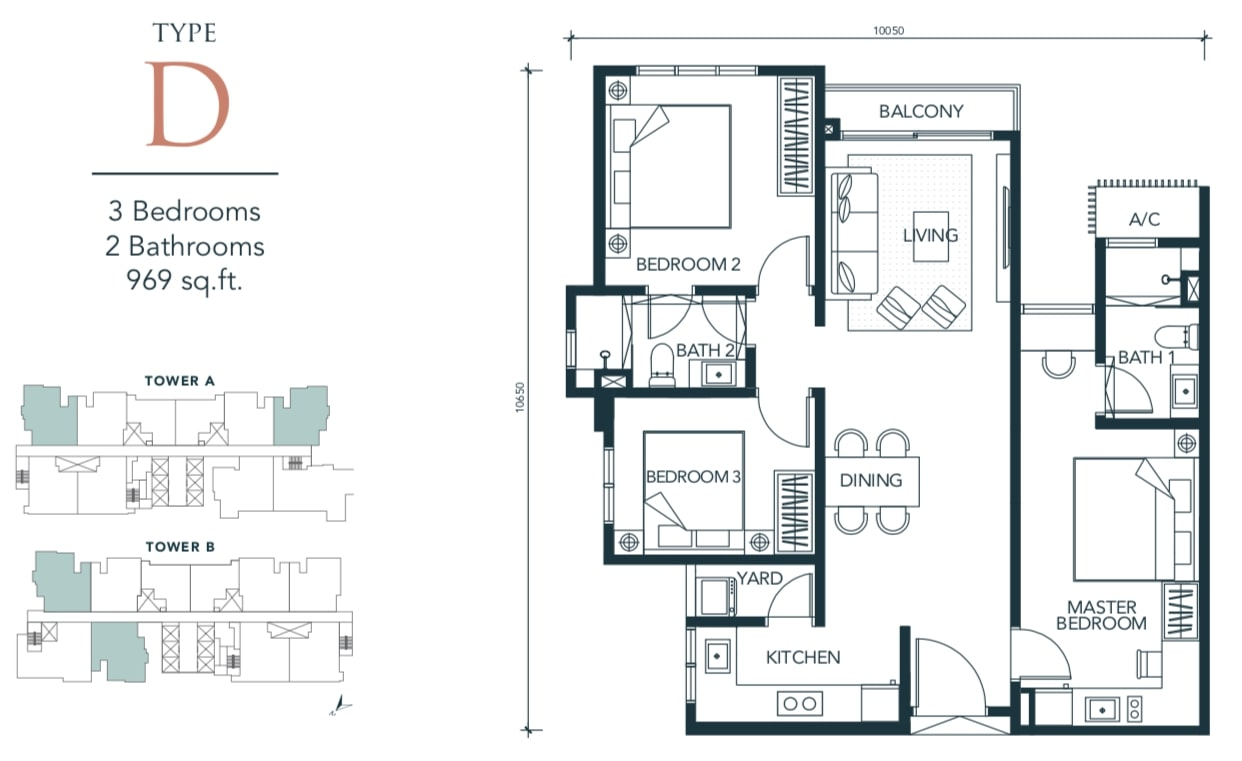 Sunway Velocity TWO Floor Plan Type D