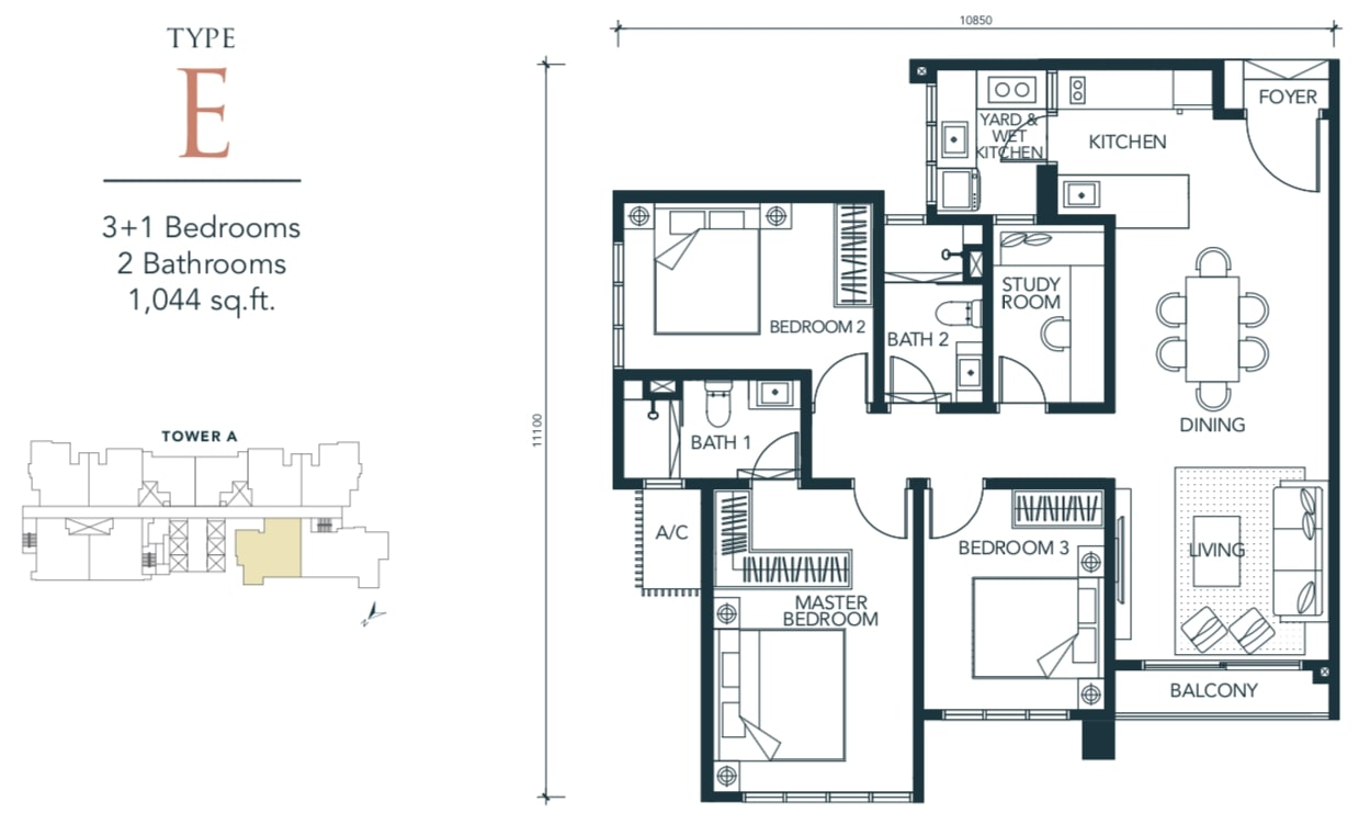 Sunway Velocity TWO Floor Plan Type E