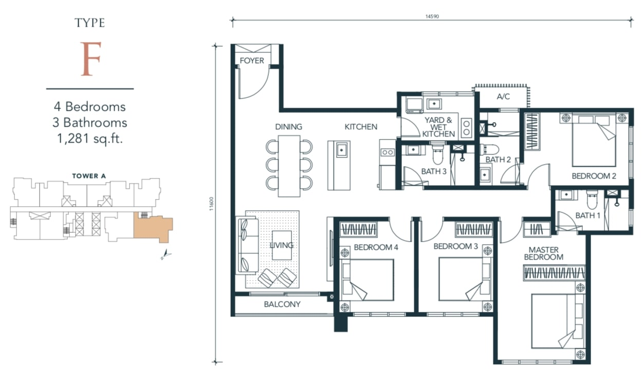 Sunway Velocity TWO Floor Plan Type F