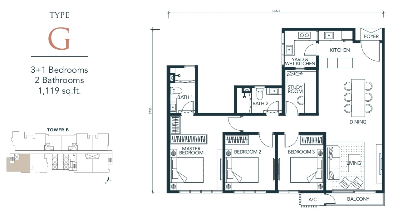 Sunway Velocity TWO Floor Plan Type G