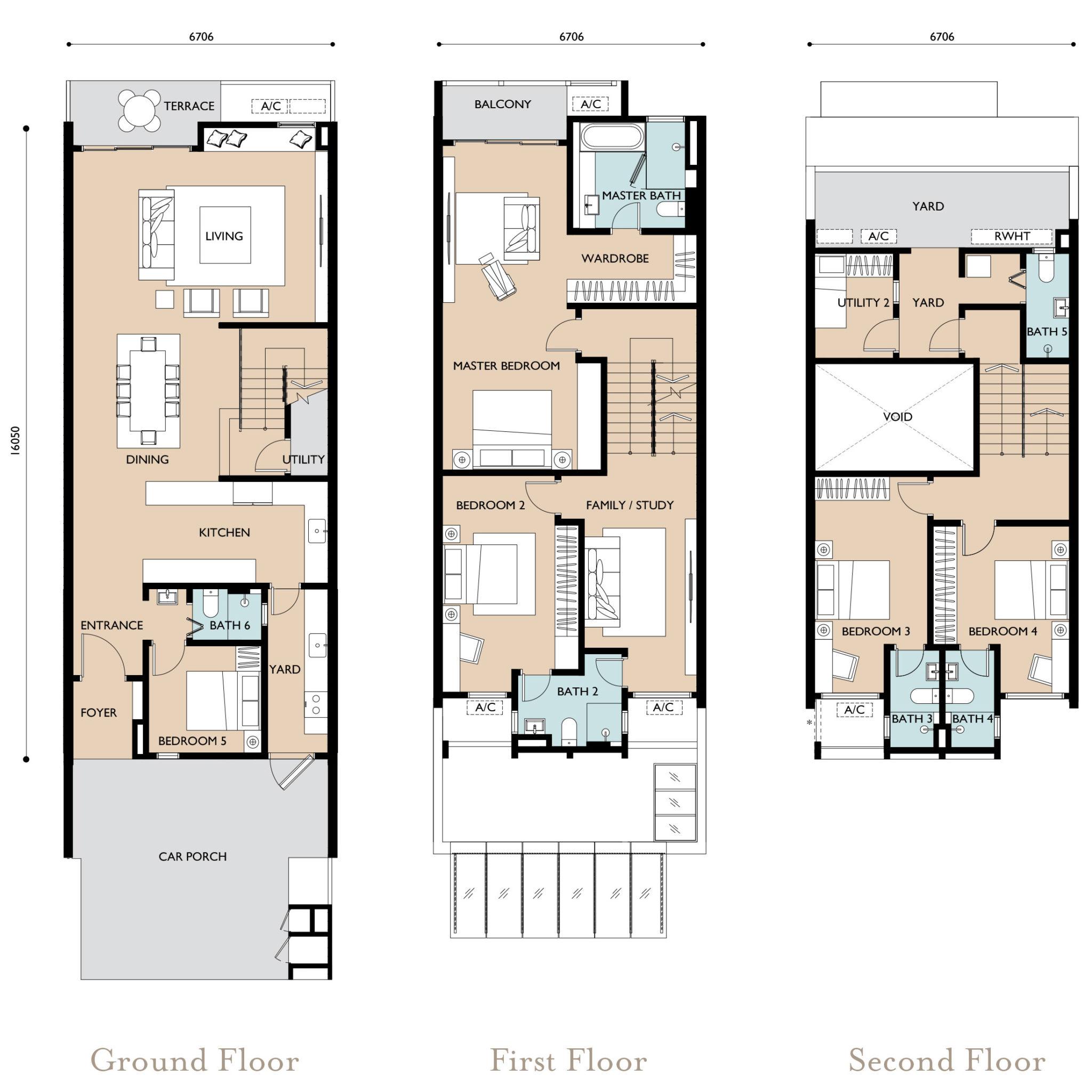Emerald Hills Floor Plan Terrace Type B