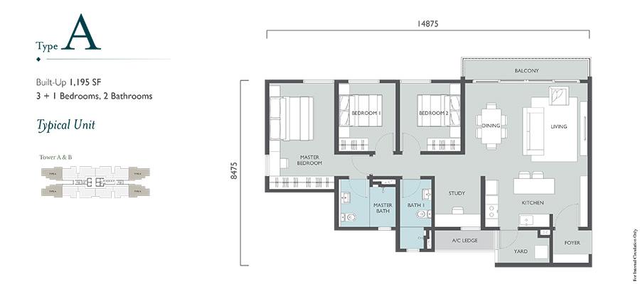 Emerald Hills Floor Plan Type A