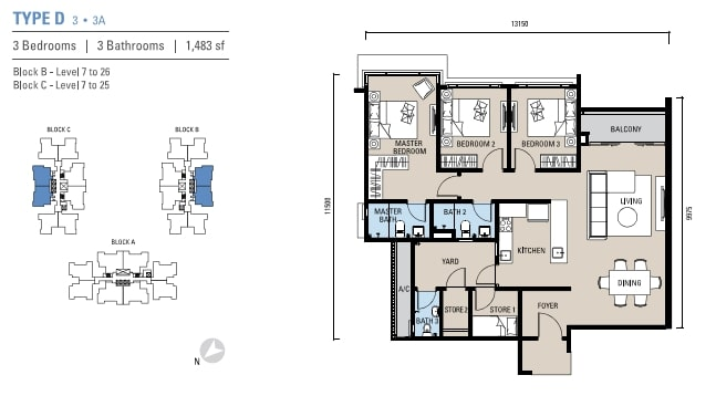 Alstonia Residence Floor Plan Type D