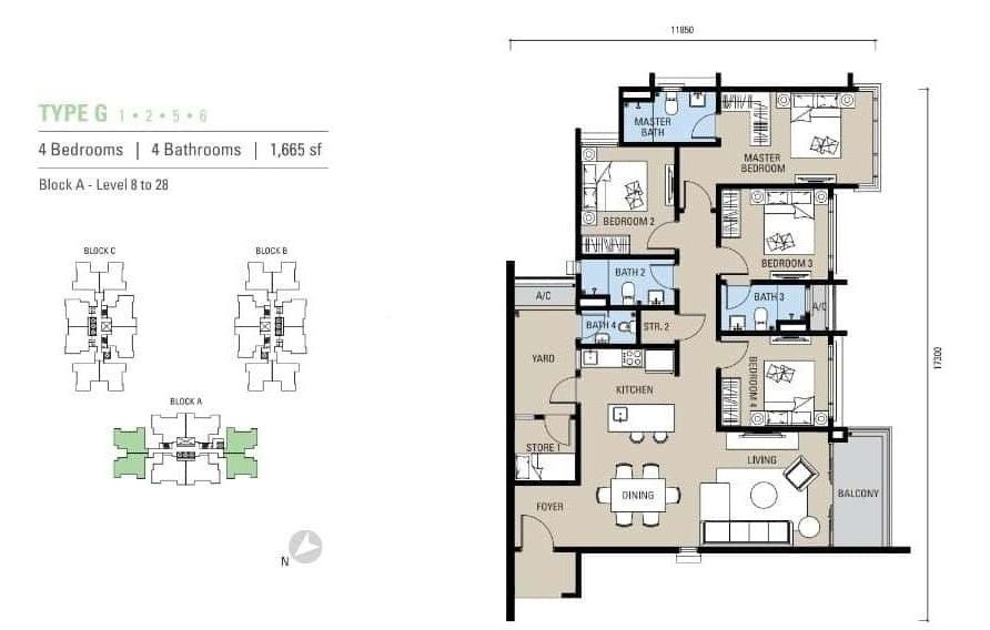 Alstonia Residence Floor Plan Type G