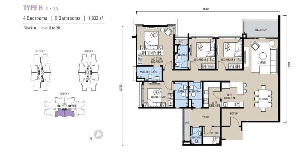 Alstonia Residence Floor Plan Type H