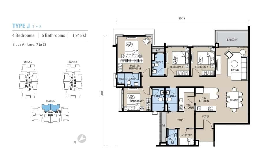 Alstonia Residence Floor Plan Type J