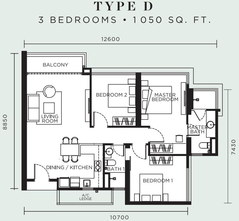 Avelia Ampang Floor Plan Type D