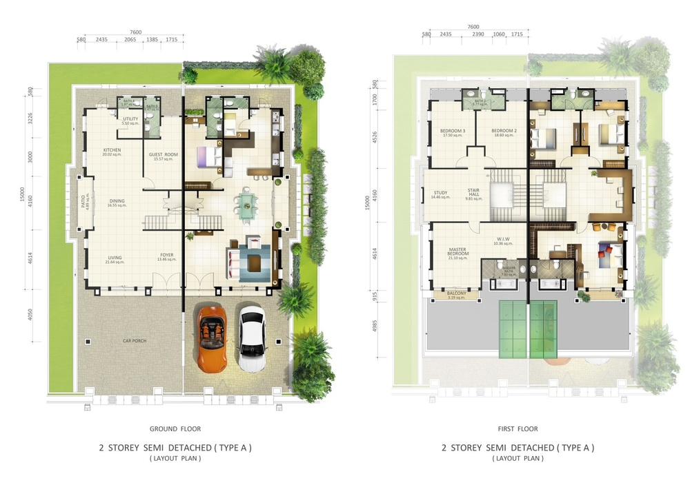 Botanica 5 Floor Plan Type A