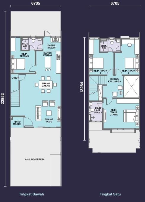 Mayang Sari Floor Plan Standard