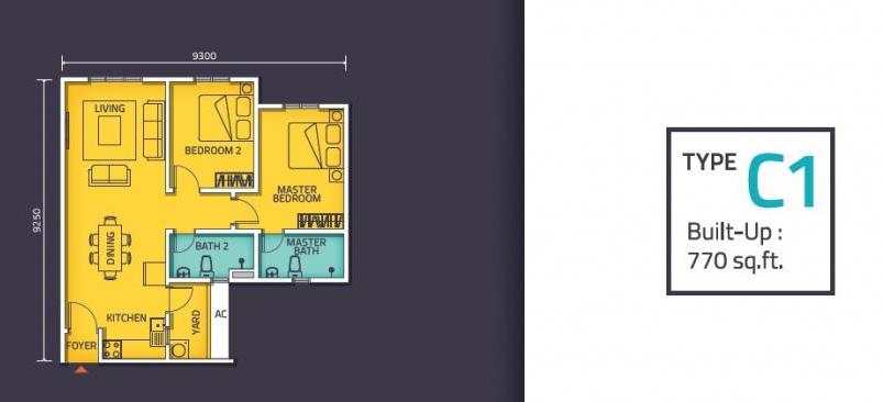 Nexus @ Kajang Station (Tower C) Floor Plan Type C1