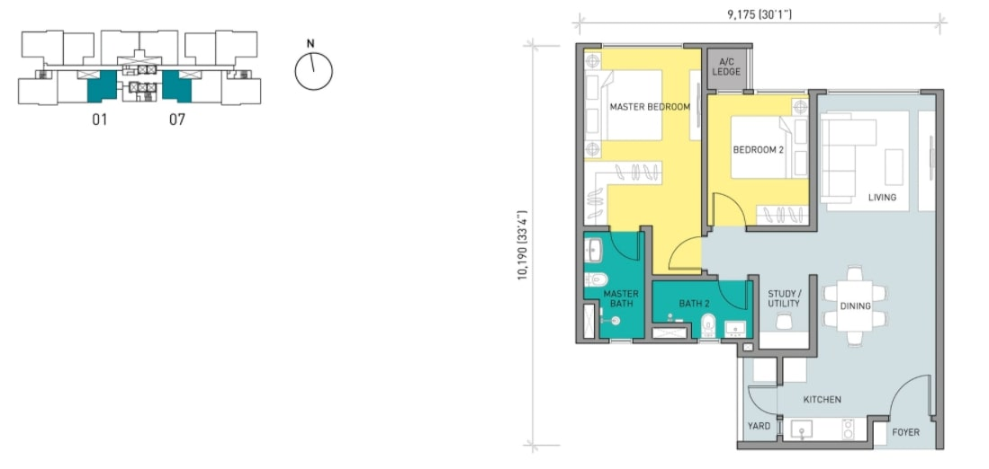 Residensi Ava Floor Plan Type A