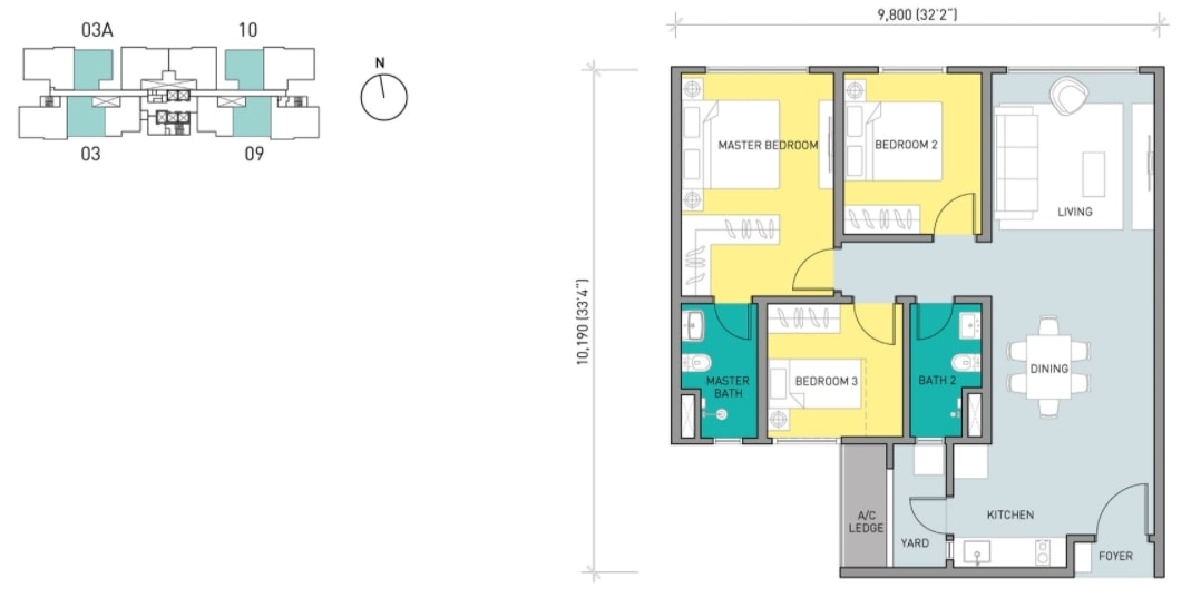Residensi Ava Floor Plan Type B