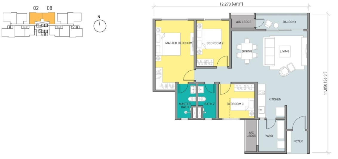 Residensi Ava Floor Plan Type C