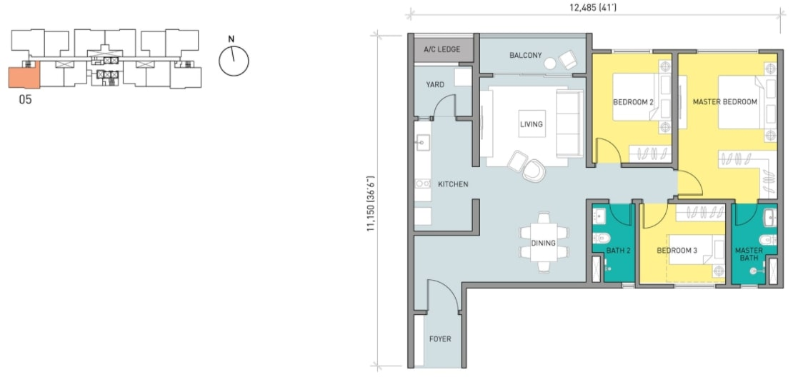 Residensi Ava Floor Plan Type D