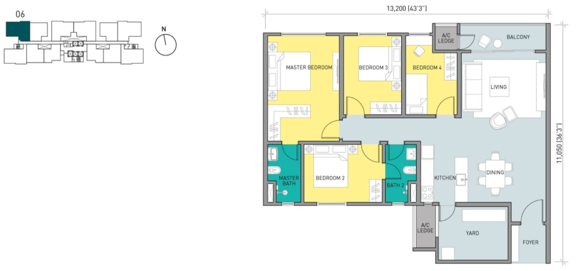 Residensi Ava Floor Plan Type E1