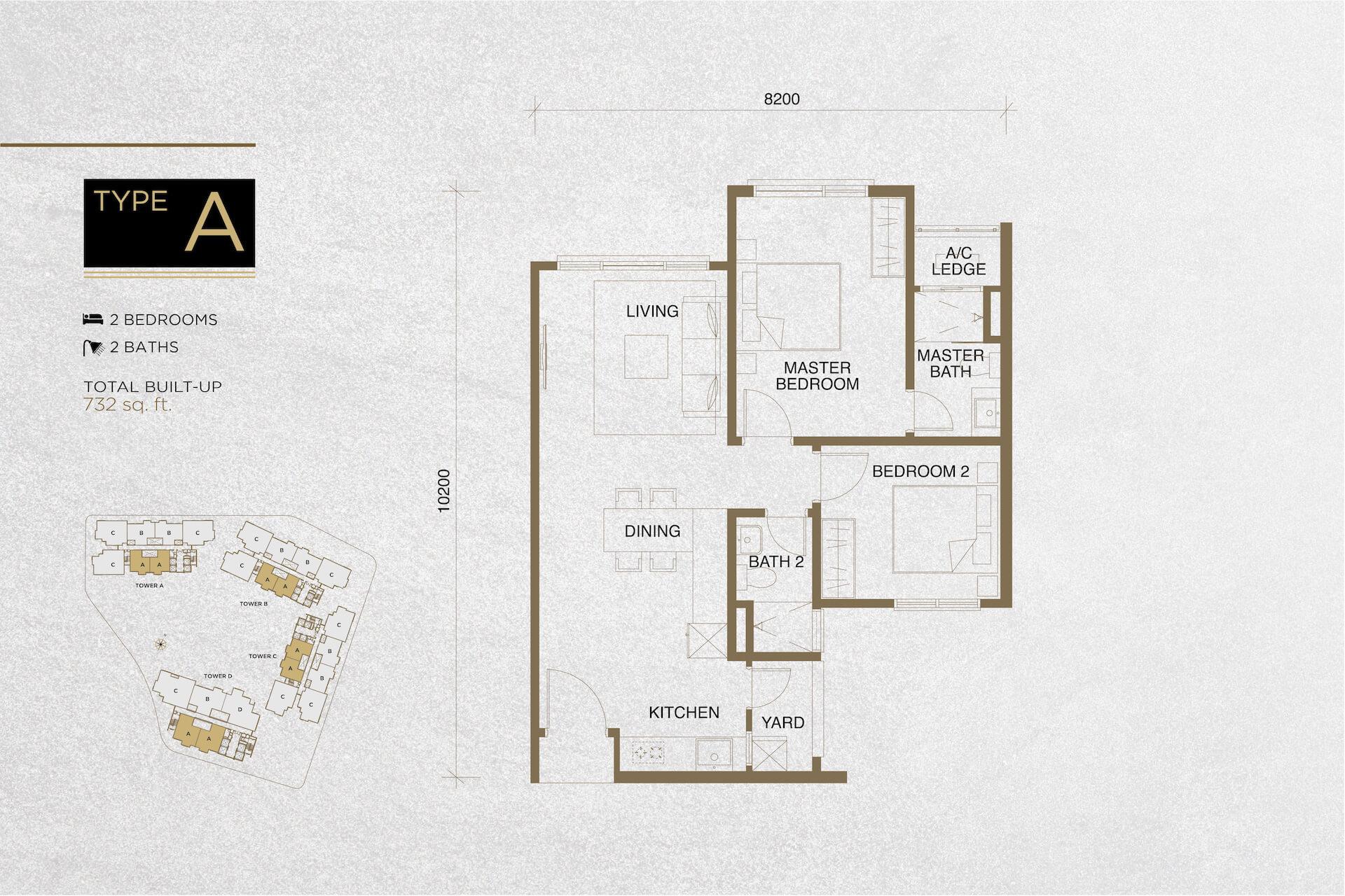 The Tropika Floor Plan Type A