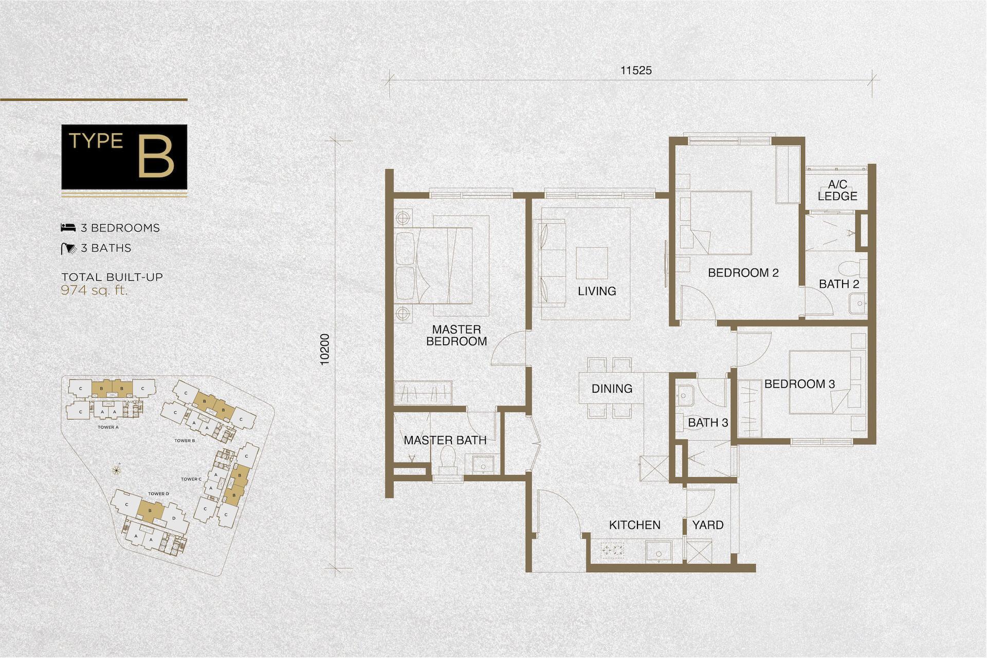 The Tropika Floor Plan Type B