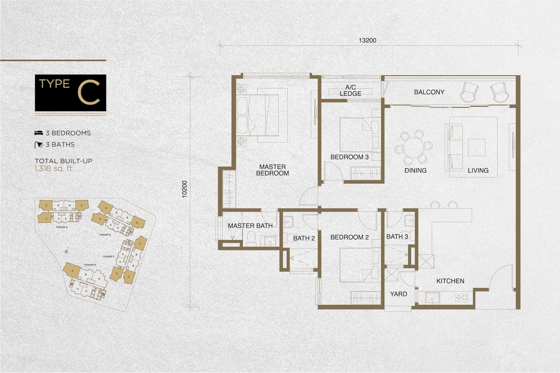 The Tropika Floor Plan Type C
