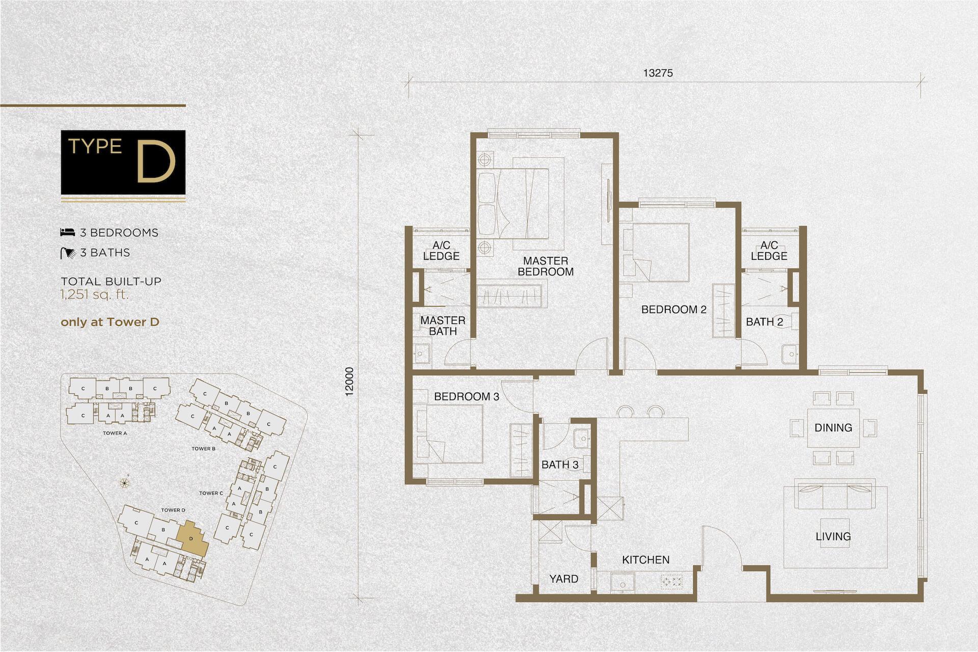The Tropika Floor Plan Type D