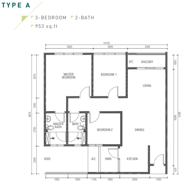 Amverton Greens Floor Plan Type A