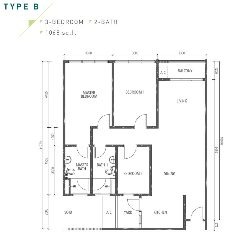 Amverton Greens Floor Plan Type B