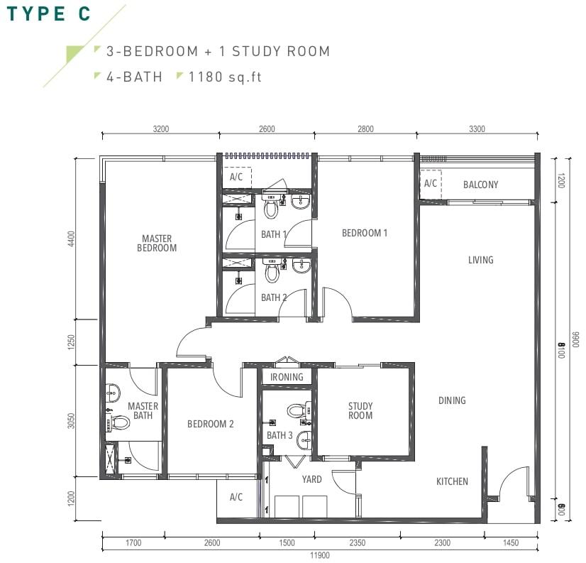 Amverton Greens Floor Plan Type C