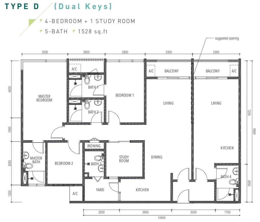 Amverton Greens Floor Plan Type D