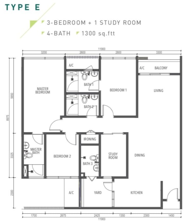 Amverton Greens Floor Plan Type E
