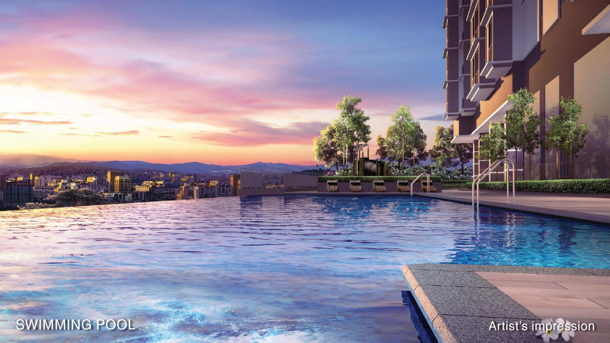 Kolam Renang Aster Green Residence