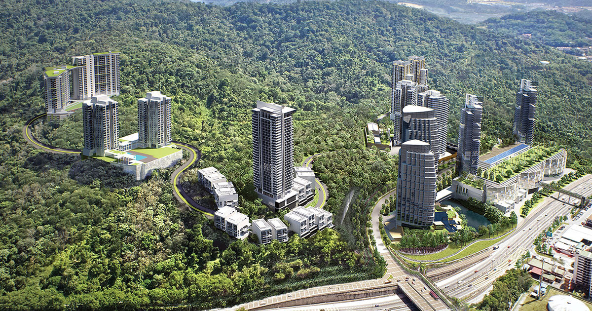 The Ridge KL East Aerial View