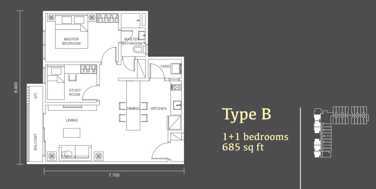 Habitus Denai Alam Floor Plan Type B
