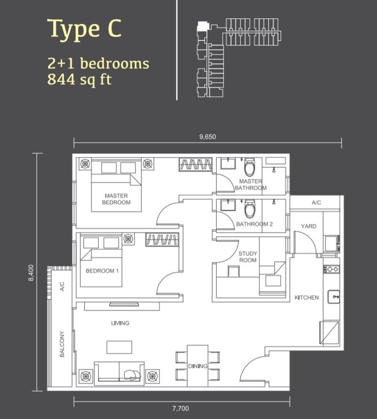 Habitus Denai Alam Floor Plan Type C