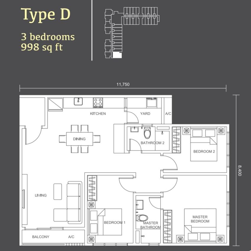 Habitus Denai Alam Floor Plan Type D